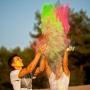 festiwal kolorów sesja narzeczeńska
